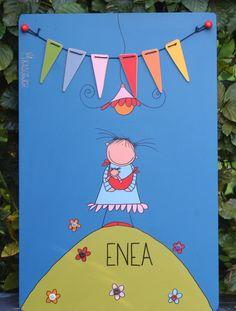 Enea, geboortebord.