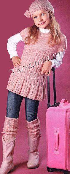 Knitting For Kids Baby Sweater Knitting Pattern, Cable Knitting, Baby Knitting Patterns, Free Knitting, Knitting For Kids, Crochet For Kids, Crochet Baby, Knit Crochet, Girls Sweaters