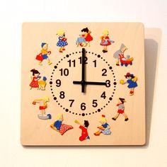 ヘラー社の壁掛時計「子どもの一日」【送料無料】【北欧テイスト】:楽天