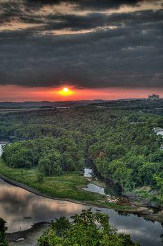 """Sunset Over Lake"" ~ Table Rock Lake near Branson, Missouri ~ Photography by dianabog"