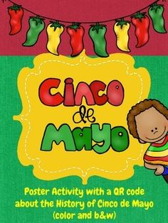 Cinco de Mayo poster fun and QR code activity