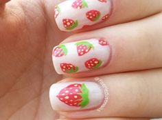 Strawberry Nails by faeriedustnails