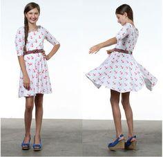 Taylor Regatta Knit T-Shirt Dress PDF Sewing Pattern for Girls - Sewing Patterns at Makerist