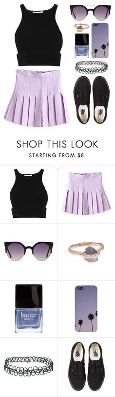 """''This game we're playing make me wanna break the rules..''"" by felytery ❤ liked on Polyvore featuring Jonathan Simkhai, Sirciam, Butter London, Topshop and Vans"