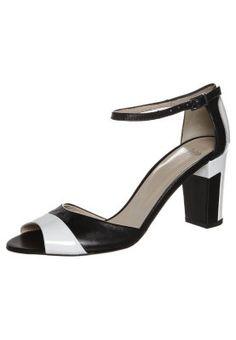 Sandalette - blanc/noir