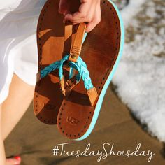 Walking on the beach in our Brias and counting the days till fireworks. #TuesdayShoesday