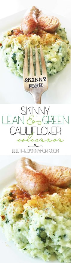 Skinny Lean & Green Cauliflower Colcannon - It's here! And just in time for St. Patrick's Day. De{light}ful! TheSkinnyFork.com