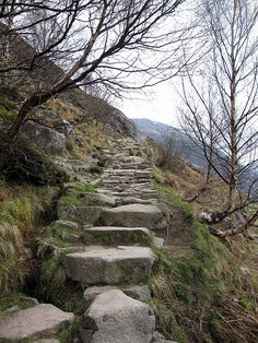 Path on Ben Nevis mountain