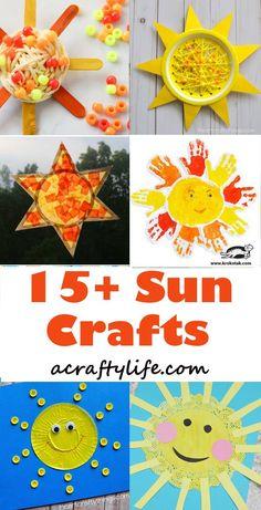 Sun kids craft - spring craft - crafts for kids- kid crafts - acraftylife. Craft Activities For Kids, Preschool Crafts, Kids Crafts, Easy Crafts, Summer Activities, Summer Preschool Activities, Preschool Weather, Weather Crafts, Elderly Activities