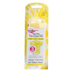 This yellow tie dye kit is perfect for allover color, one-color tie-dye effects or adding to your tie-dye party extras! Tie Dye Supplies, Tulip Colors, Colours, Diy Tie Dye Shirts, Tie Dye Party, Tie Dye Kit, Yellow Ties, Color Yellow, Tie Dye Designs
