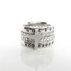 God Gave Me You Personalized Stackable Ring Engraved Stamped Birthstone Ring  #Handmade #stackable