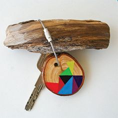 Hand painted Pine wood #keychains by #Nane #Handmade $16 #gifts #domestica