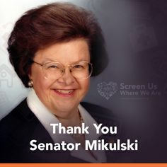 Thank you, Sen. Barbara Mikulski for women. We need and deserve better access to heart disease screenings http://sistertosister.org/