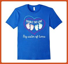 Mens Big Sister Of Twins Shirt. Double The Love Big Sister Gifts XL Royal Blue - Relatives and family shirts (*Partner-Link)