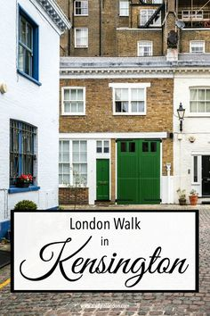 This self-guided walk in Kensington will take you through the best of the area's back streets and mews. It shows this London neighborhood at its loveliest. #london