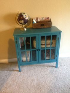 Threshold Windham Cabient | two turquoise cabinets side by side ...