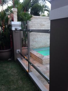stainless and glass gate, more at: http://www.pinterest.com/avivbeber3/glass-gates-and-garage-doors/
