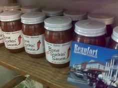 Photo by Hugh Parry, taken on 9-29-2009 Looks like Beaufort supports Bone Suckin' Sauce !