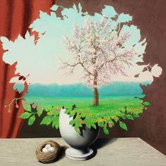 René Magritte - Le Plagiat, 1940 (oil on canvas)