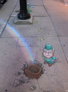 Chalk Art, By: David Zinn