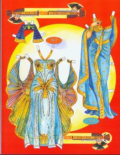 Cleopatra's costumes. Page 6 of 8 Pages. By David Wolfe, Paperdollywood. Available for purchase at paperdollreview.com