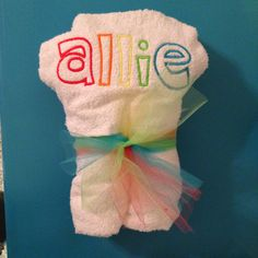 Embroidery- personalized hooded towel