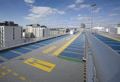 Floor marking of multi-storey car park .