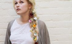 DIY // paper flower hair accessories