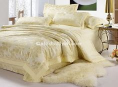 Charming Milk White 4 PCs Luxury Bedding Sets - $169.99 : Colorful Mart, All for Enjoyment