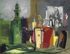 St George's Church, Portland by John Piper John Piper Artist, Children's Book Illustration, Book Illustrations, Art Thou, Royal College Of Art, Abstract Painters, Saint George, Artist At Work, Printmaking