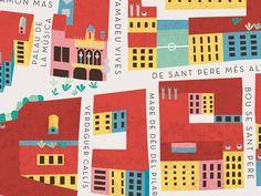 Travel map art illustration behance 16 ideas for 2019 Illustrations, Graphic Illustration, El Born Barcelona, Abstract City, Tourist Map, City Maps, Map Design, Art Graphique, Travel Maps