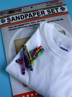 Sandpaper Printed T-shirt by Cindy Hopper by Alphamom.com (supplies)