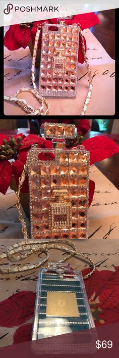 Rhinestone iPhone 6 case with strap This is the cutest case ever...so sparkly and unique Accessories Phone Cases