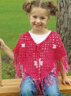 Ponchos em Crochê com Gráfico - Katia Ribeiro Moda e Decoração Handmade