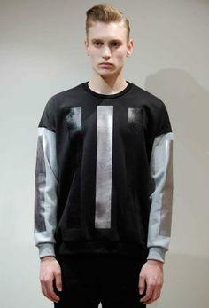 Metallics: A/W young men's catwalk trend flash Young Man, Winter Collection, Catwalk, Swag, Bomber Jacket, Menswear, Graphic Sweatshirt, Street, Sweatshirts