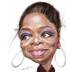caricature of Oprah by Chia-hui Liu - Google Search