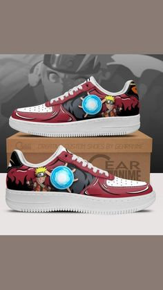 Naruto Uzumaki, Anime Naruto, Anime Guys, Naruto Sage, Air Force Shoes, Hand Painted Shoes, Casual Shoes, The Incredibles, Sneakers