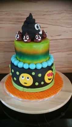 Emoji torte Emoji, Birthday Cake, Desserts, Food, Recipes, Tailgate Desserts, Deserts, Birthday Cakes, Essen