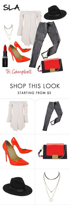 """Stripes"" by tritheslaqueen on Polyvore featuring Topshop, Ralph Lauren, Jimmy Choo, Mulberry, Lack of Color and Smashbox"