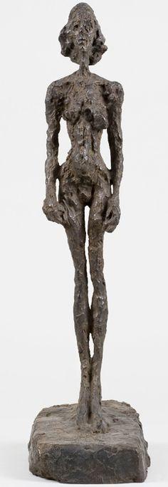Alberto Giacometti Annette from Life, 1954 Bronze x x cm - Alberto Giacometti, Giovanni Giacometti, Art Sculpture, Modern Sculpture, Bronze Sculpture, Antoine Bourdelle, Public Art, Famous Artists, Oeuvre D'art