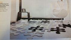 Idea tappeto scomponibile in feltro