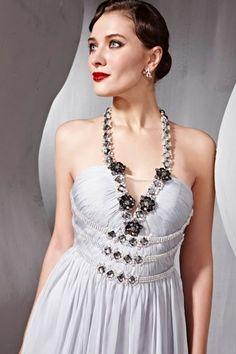 chainmail wedding dress | Vestido Frente Única Alças com Aplicações Ref. 56851 - La ...