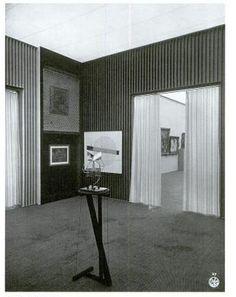 Lissitzky. Design of the Raum für konstruktive Kunst [Room for Constructivist Art], Internationale Kunstausstellung, Dresden, 1926.