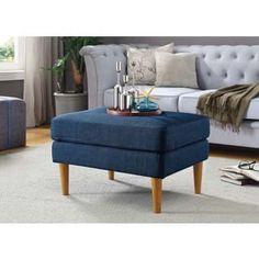 Convenience Concepts Designs4Comfort Marlow Mid-Century Ottoman
