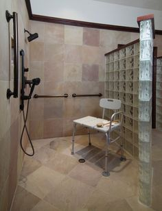 Elegant Accessible Bathroom Remodel   Traditional   Bathroom   Houston   By Carla  Aston