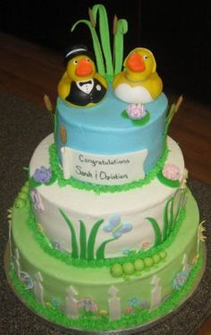 Dazie's Delectables: Duck themed wedding cake