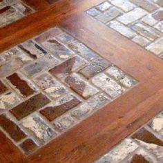 beautiful!  maybe tile instead of bricks.....
