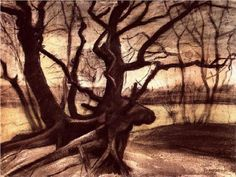 Study of a Tree - Vincent van Gogh. Something about this one makes me love it! #tangled