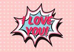 I love you (Pop-Art) | Liebe | Echte Postkarten online versenden…