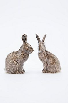 Wild Rabbit Salt and Pepper Shakers - Urban Outfitters Urban Outfitters, Wild Rabbit, Cool Pets, Salt And Pepper, Hand Painted, Deli, Fun, Decoration, Bunnies